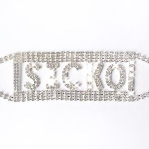 sicko cartel rhinestone choker necklace
